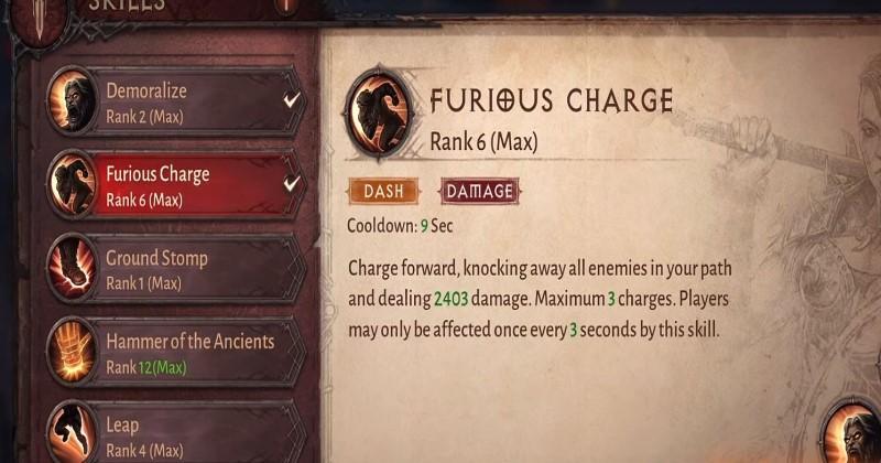 Barbarian Skill Build and Guide for Diablo Immortal