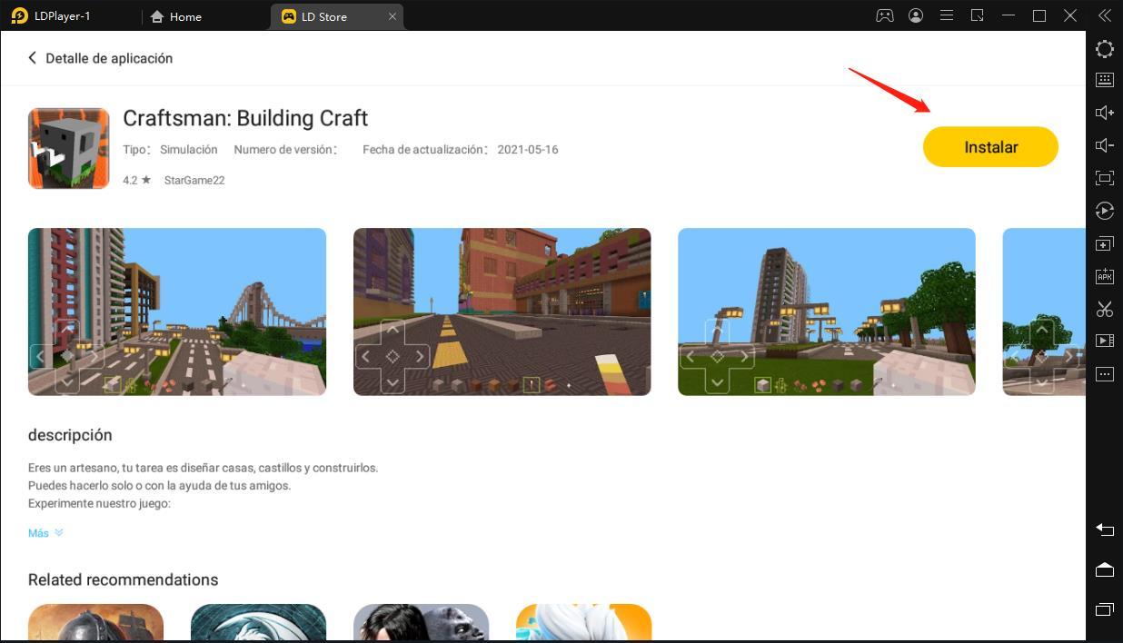 Tutorial para jugar Craftsman: Building Craft gratis en pc