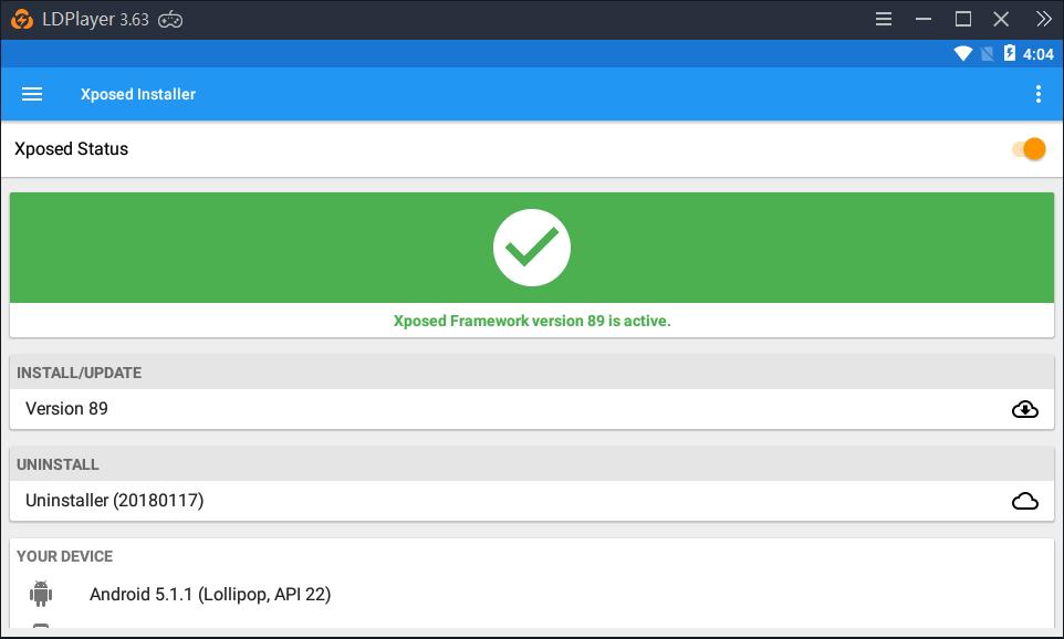 Siapkan Xposed Installer di LDPlayer Anda