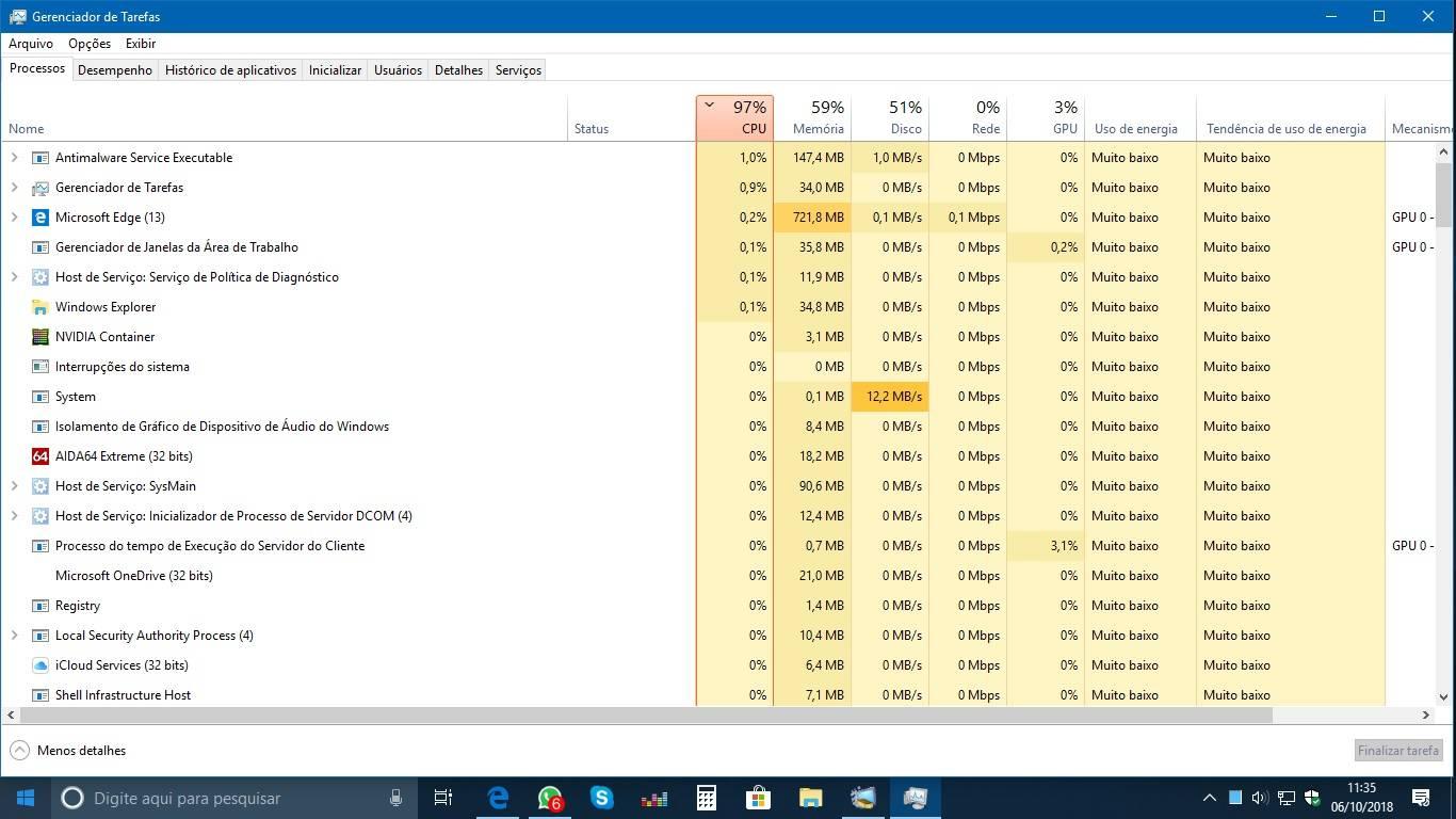 Como diminuir o uso da CPU?