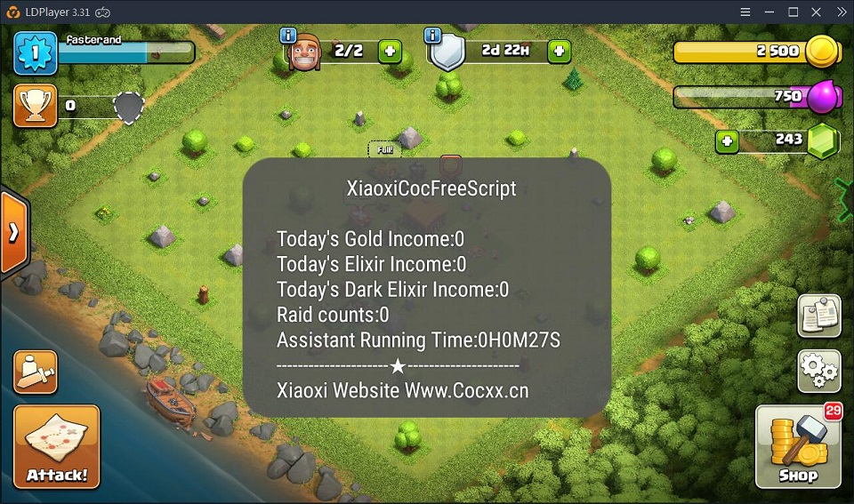 Play Clash of Clans automatically