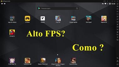 Configurações de alto FPS para jogos And...