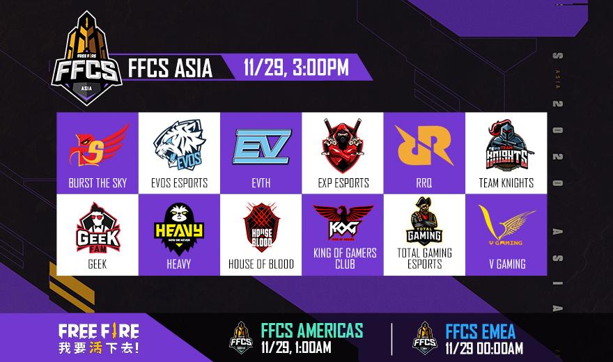 《Free Fire-我要活下去》台灣戰隊「圓桌騎士」前進世界 迎戰全球好手 爭奪FFCS ASIA總決賽冠軍榮耀